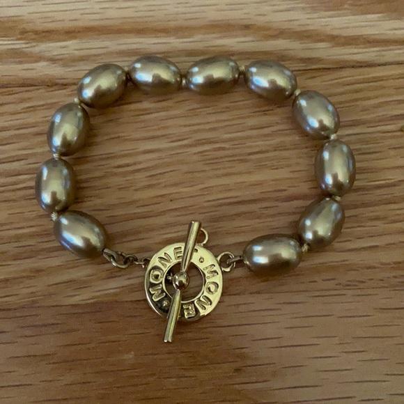 Vintage Monet gold tone beaded bracelet